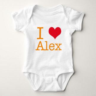 I Heart Alex Baby Bodysuit