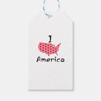 I heart America Gift Tags
