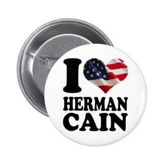 I heart American Flag Herman Cain Buttons