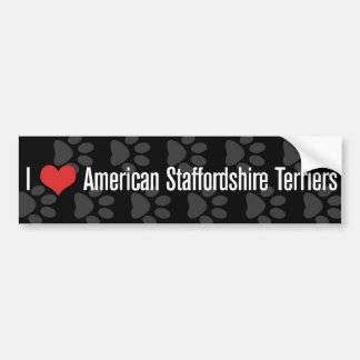 I (heart) American Staffordshire Terriers Bumper Sticker