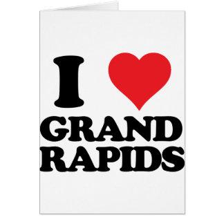 i heart and love grand rapids, michigan card