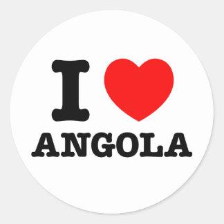 I Heart Angola Classic Round Sticker