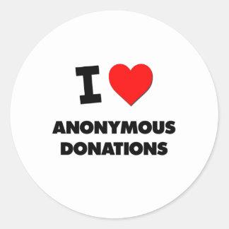 I Heart Anonymous Donations Sticker