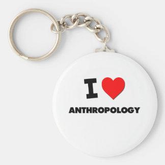 I Heart Anthropology Key Ring