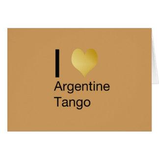 I Heart Argentine Tango Card