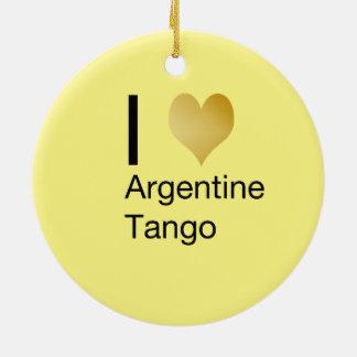 I Heart Argentine Tango Ceramic Ornament