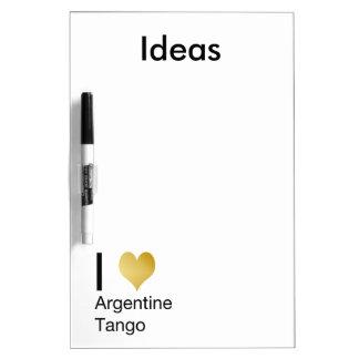 I Heart Argentine Tango Dry Erase Board