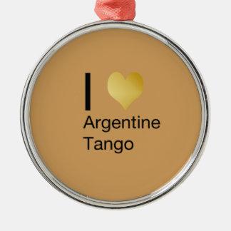 I Heart Argentine Tango Metal Ornament