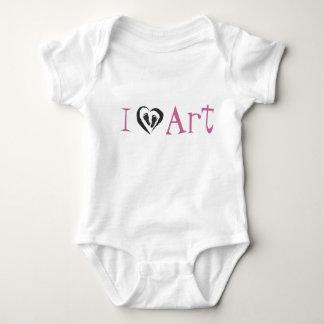 """i heart art"" eARTsicle.com tee for infants"