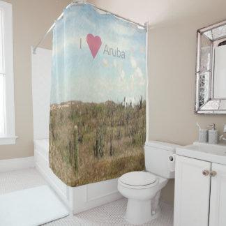 I Heart Aruba Landscape Shower Curtain