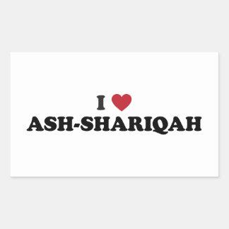 I Heart Ash-Shāriqah Sharjah United Arab Emirates Rectangular Sticker
