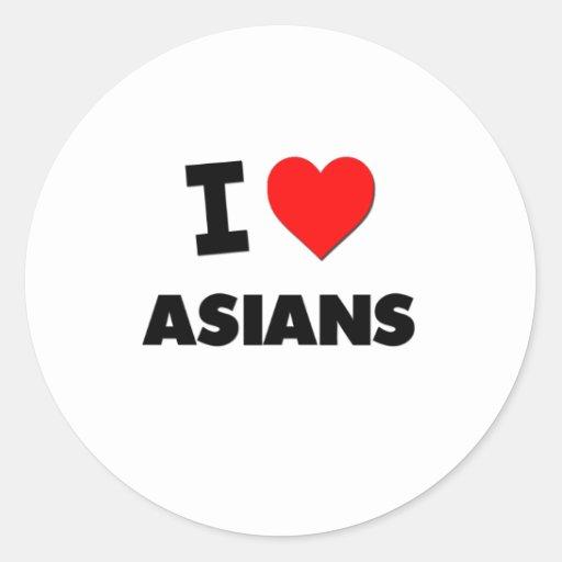 I Heart Asians Stickers