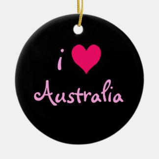 I Heart Australia Round Ceramic Decoration