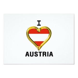 I HEART AUSTRIA 13 CM X 18 CM INVITATION CARD