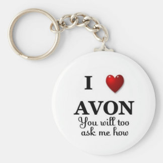 i heart avon ask me how key ring