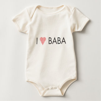 I HEART BABA and DEDO Baby Bodysuit