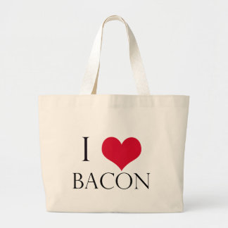 i heart bacon canvas bags