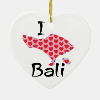 I heart Bali Ceramic Ornament