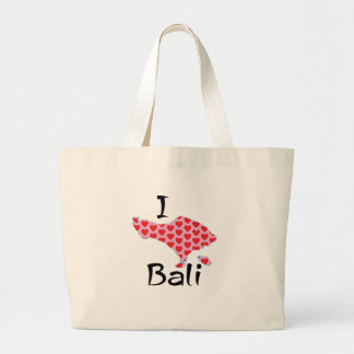 I heart Bali Large Tote Bag