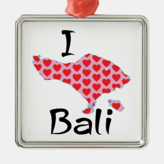 I heart Bali Metal Ornament