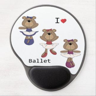 I Heart Ballet Bear Ballerina's Gel Mouse Mat