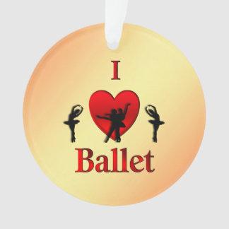 I Heart Ballet Christmas Ornament
