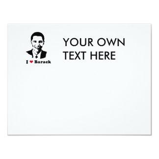I Heart Barack T-shirt 4.25x5.5 Paper Invitation Card