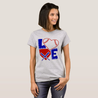 I Heart Baseball - I Love Base Ball Bat T-Shirt