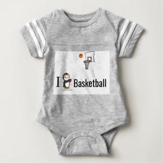 I Heart Basketball! Baby Bodysuit