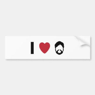I heart beard bumper sticker