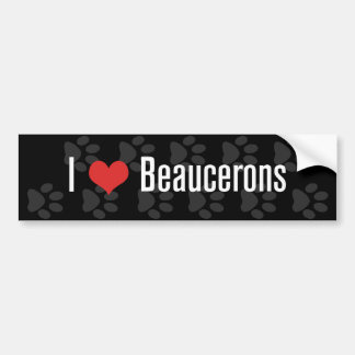 I (heart) Beaucerons (Dark) Bumper Sticker