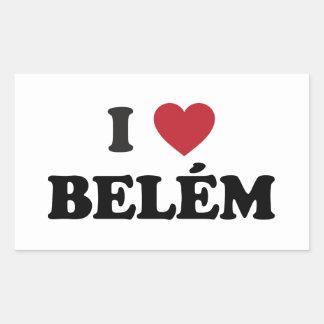 I Heart Belém Brazil Rectangle Sticker