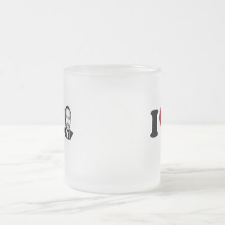 I Heart Ben Carson 10 Oz Frosted Glass Coffee Mug