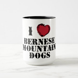I (heart) Bernese Mountain Dogs mug