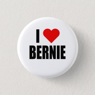"""I HEART BERNIE"" 3 CM ROUND BADGE"