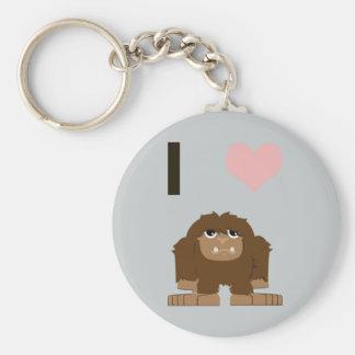 I heart bigfoot key ring