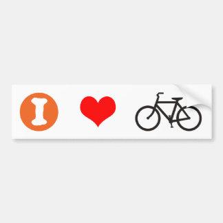 I Heart Bike Bumper Sticker