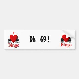 I Heart Bingo Bumper Sticker