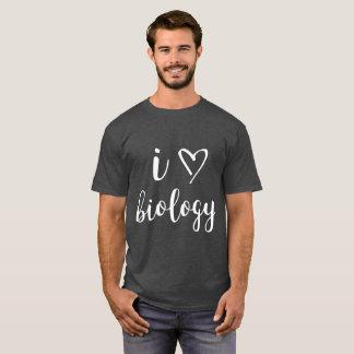 I Heart Biology Men's Dark Shirt