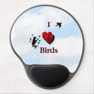 I Heart Birds Gel Mouse Pad