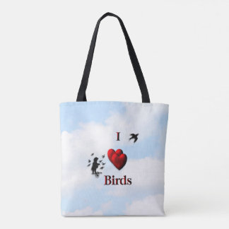 I Heart Birds Tote Bag