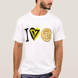 I HEART BITCOIN - VOLUNTARYIST T-SHIRT FOR CYRPTOS