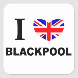 I Heart Blackpool. Square Sticker
