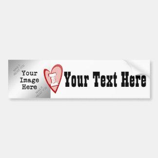 "I ""Heart"" Blank (Personalize) Bumper Sticker"