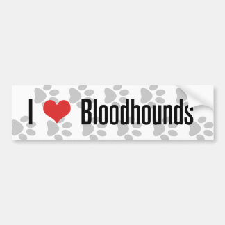 I (heart) Bloodhounds Bumper Sticker