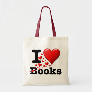 I Heart Books! I Love Books! (Trail of Hearts) Tote Bag