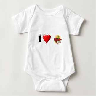 I heart Bookworms Baby Bodysuit