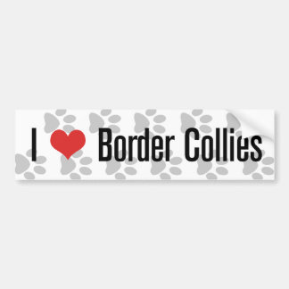 I (heart) Border Collies Bumper Sticker