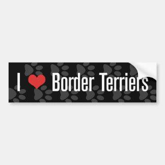 I (heart) Border Terriers Bumper Sticker