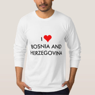 i heart bosnia and herzegovina T-Shirt